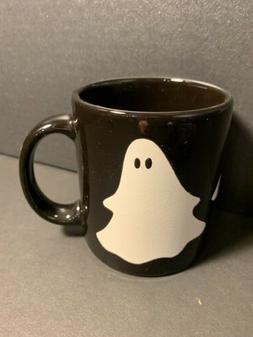 White Ghost on Black Mug 12oz Waechtersbach German Stoneware