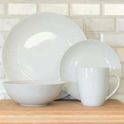 10 Strawberry Street White Porcelain 32-Pc Coupe Dinnerware