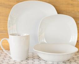 10 Strawberry Street White Square 32-Piece Dinnerware Set Se