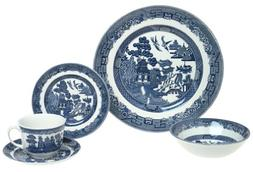 Johnson Brothers Willow Blue Dinnerware 20-Piece Set, Servic