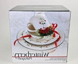 Pfaltzgraff Winterberry 16-Piece Dinnerware Christmas Set, S