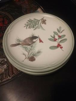 """Pfaltzgraff WINTERWOOD birds Canvas Tan 8 1/4"""" Salad Plate s"""
