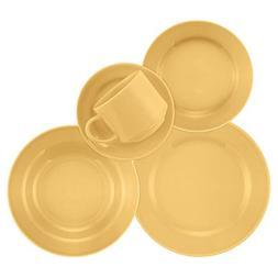 Oxford 20 Piece Yellow Donna Dinnerware Set