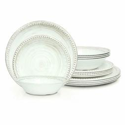 Zak! Designs French Country House Melamine Dinnerware 12-Pie