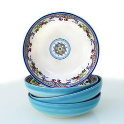 """Euro Ceramica Zanzibar Collection Vibrant 8.4"""" Ceramic Pasta"""