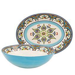 Euro Ceramica Zanzibar Collection Vibrant Ceramic Serving As