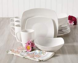 Zen Buffetware 16 Piece Dinnerware Set in White-16pcs